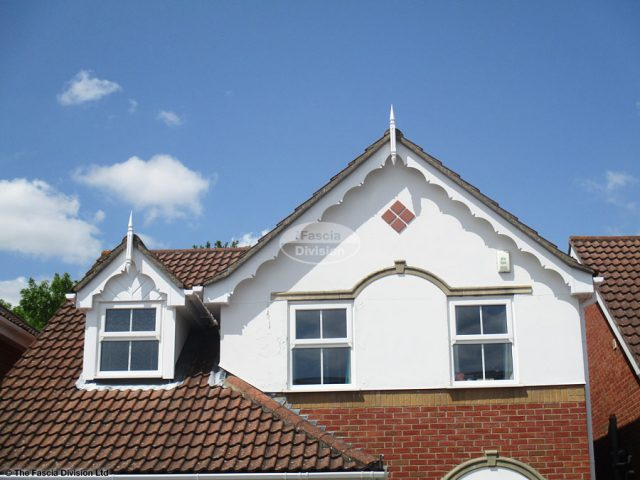 White decorative fascia with Swish roof spires in Hedge End