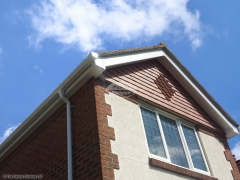 White ogee guttering white fascia soffit