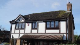 installation of mock tudor beams