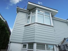 Full installation of fascia, soffit and guttering with new fibre cement weatherboard cladding
