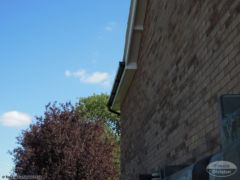 UPVC black gutters, white soffit and fascia replacement