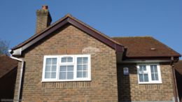 UPVC rosewood bargeboards