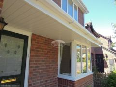 White UPVC soffit and fascia with squareline gutters