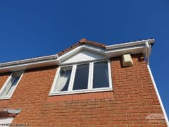 Gutter, fascia and soffit install on dormer window in Wittering Cambridgeshire