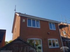 Gutter white UPVC, fascia and soffit white installed in Wittering Cambridgeshire