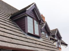 UPVC cladding and fascias on dormer windows