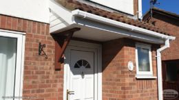New fascias, guttering and cladding on a porch