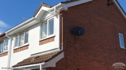 Replace guttering and fascias in white upvc