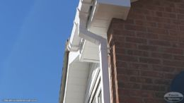 Replacement guttering, fascias and soffits in white UPVC