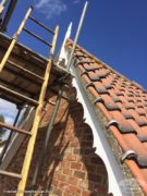decorative bargeboards with white tongue and groove soffits