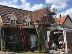 full replacement fascias, soffits and guttering on a detached house