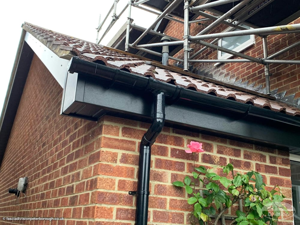 black UPVC fascias soffits guttering new installation