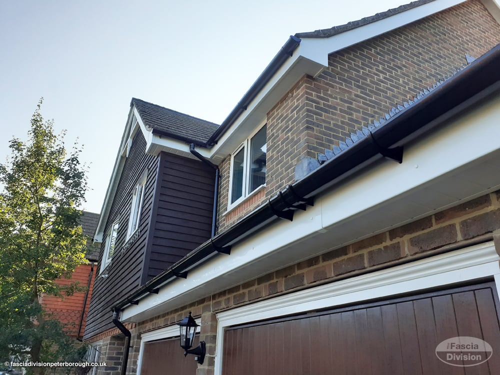 new replacement UPVC guttering, fascias and soffits