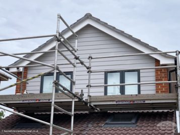 scaffolding required to fit the new cladding