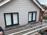 pearl grey weatherboard cladding nstallation