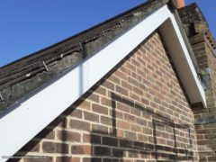 white UPVC bargeboards and soffits
